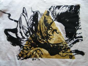 Ectoplasm design and silkscreen printing on shirt.