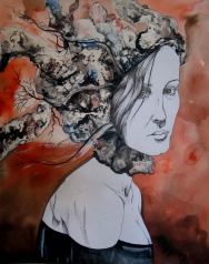 Corollaire - Pen, ink and watercolor on paper - 12'x15'
