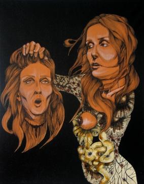 Double portrait, Mixed Media on canvas, 16'x20'