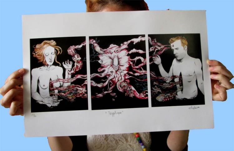 Triptyque print