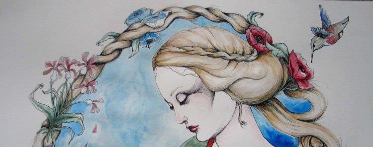 Vierge a la licorne detail
