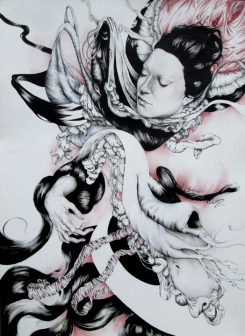 Armistice - Pen, ink nd pencils on paper - 22'x30' SOLD