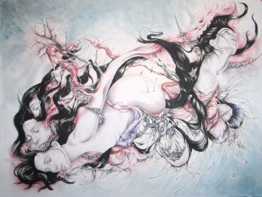 ''Anima Mundi'' - Mixed Media on paper - 38'x50' - Sold (comissioned piece)